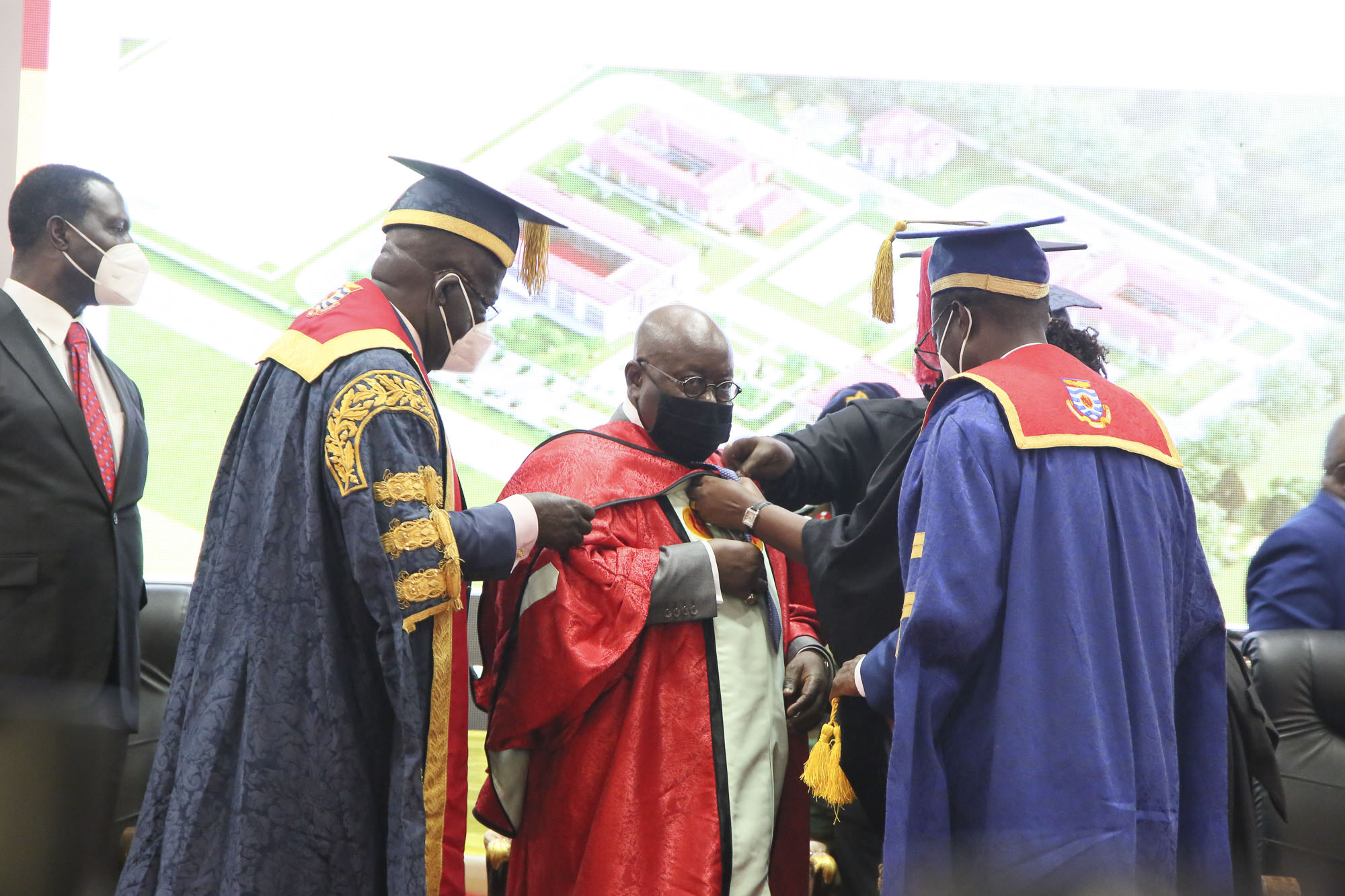 President being robed